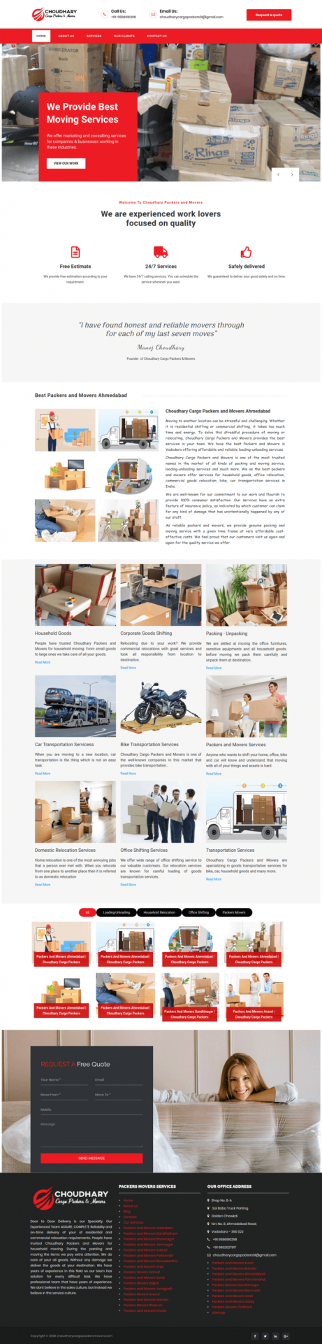 Choudhary Cargo Packers Movers